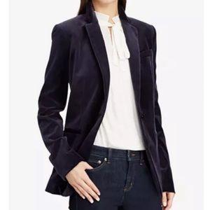RALPH LAUREN Navy Blue Velvet Blazer Size 6